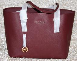 ❤️ MICHAEL KORS Jet Set Medium Saffiano Leather Tote Bag