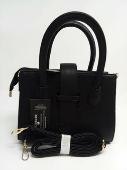 K. CARROLL Accessories Audrey Satchel Purse Black RFID Block