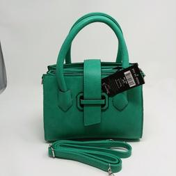 K. CARROLL Accessories Audrey Satchel Purse TEAL RFID Blocki