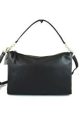 Kate Spade Larchmont Avenue Alena Leather Shoulder Bag Black
