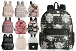 Betsey Johnson Kitsch Stud Medium Travel Luggage Backpack Pu