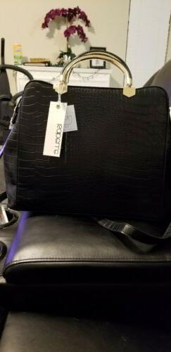 Isabelle 2 in 1 Set Handbag Purse and Wallet - Black - Textu