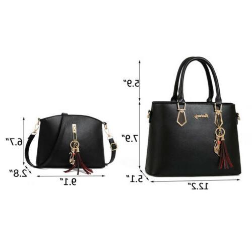 2set PU Handbag Tote Purse