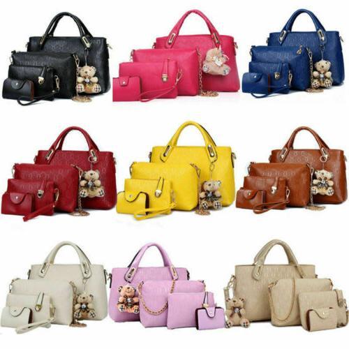 4Pcs/Set Handbags Messenger Shoulder Tote Satchel