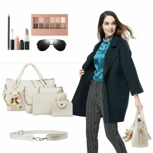 4Pcs/Set Lady Handbags Messenger Bags Tote