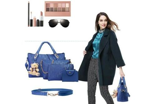 4Pcs/Set Women Lady Handbags Messenger Tote