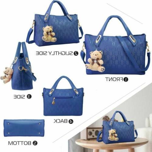 4Pcs/Set Handbags Messenger Shoulder Tote