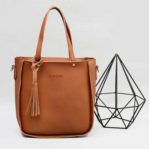 4PCS/Set Women Lady Shoulder Bag Handbag Clutch Coin Purse US