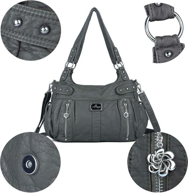Angelkiss Handbags Soft Washed Cro