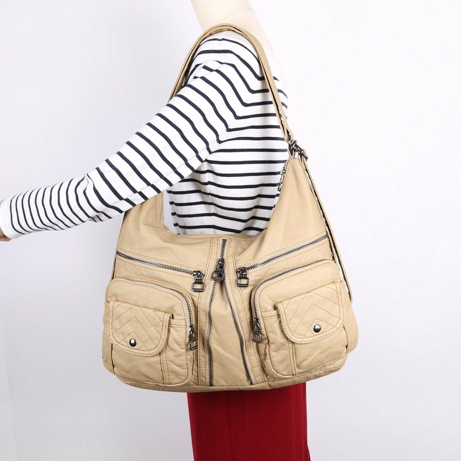 Angelkiss Two Top Multi Handbags Leather Purses
