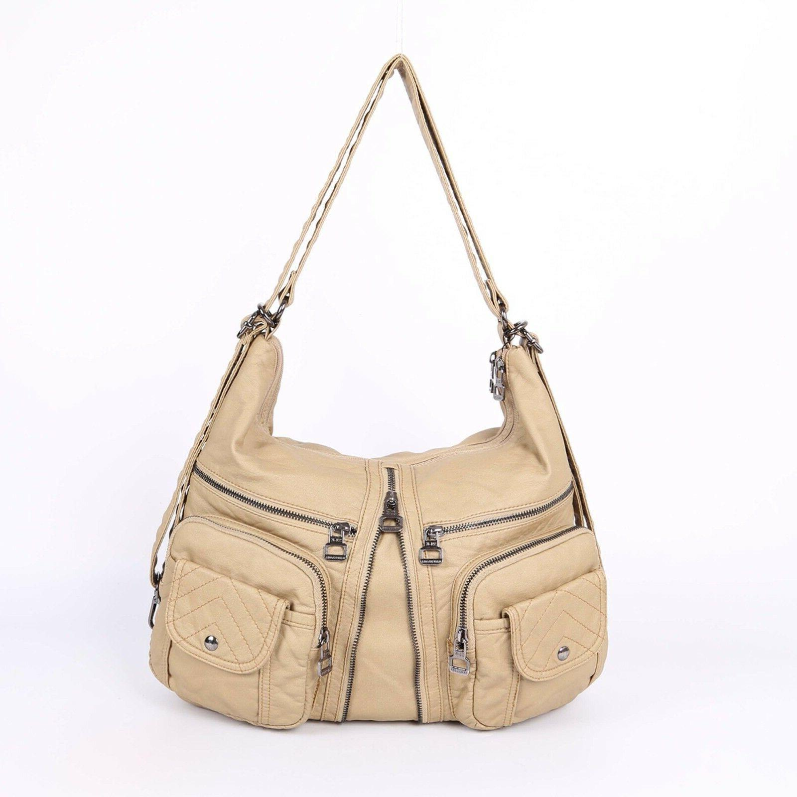 angelkiss two top zippers multi pockets handbags