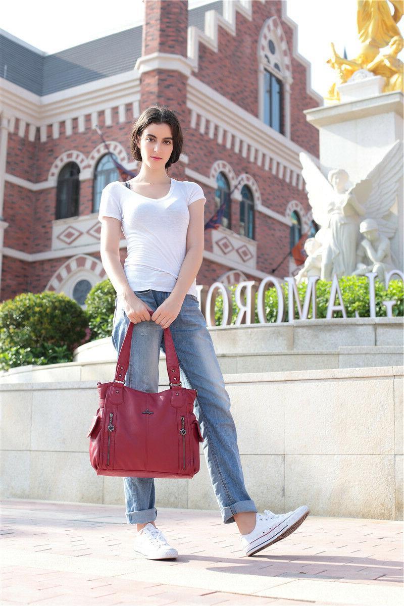 Angelkiss Fashion bag Handbag Soft Leather