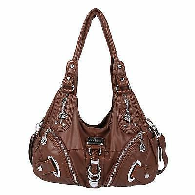 angelkiss womens handbags multi pocket functional purse