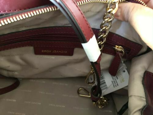 AUTHENTIC MICHEAL KORS MULBERRY SATCHEL LEATHER BAG