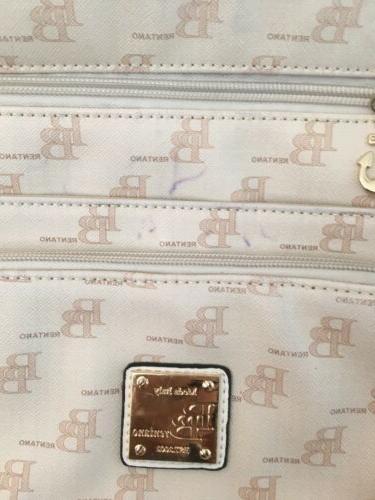 Handbag Beige Gold Trim Small