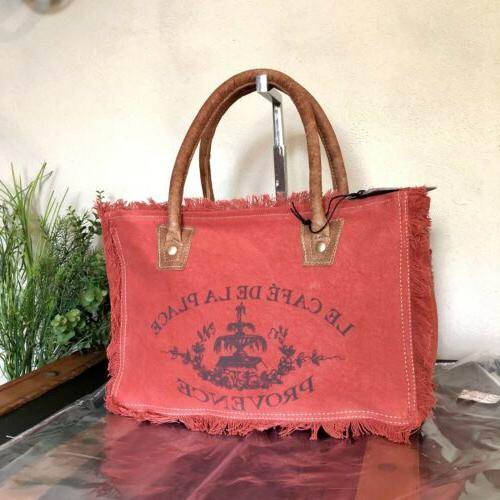Myra Bag Up-cycled Canvas Handbag Purse