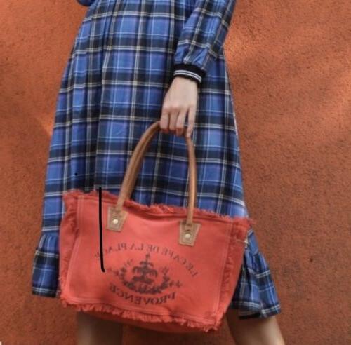 Myra Bag Carroty Up-cycled Canvas Handbag Purse