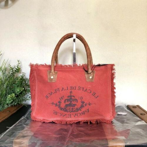 bag carroty up cycled canvas handbag purse