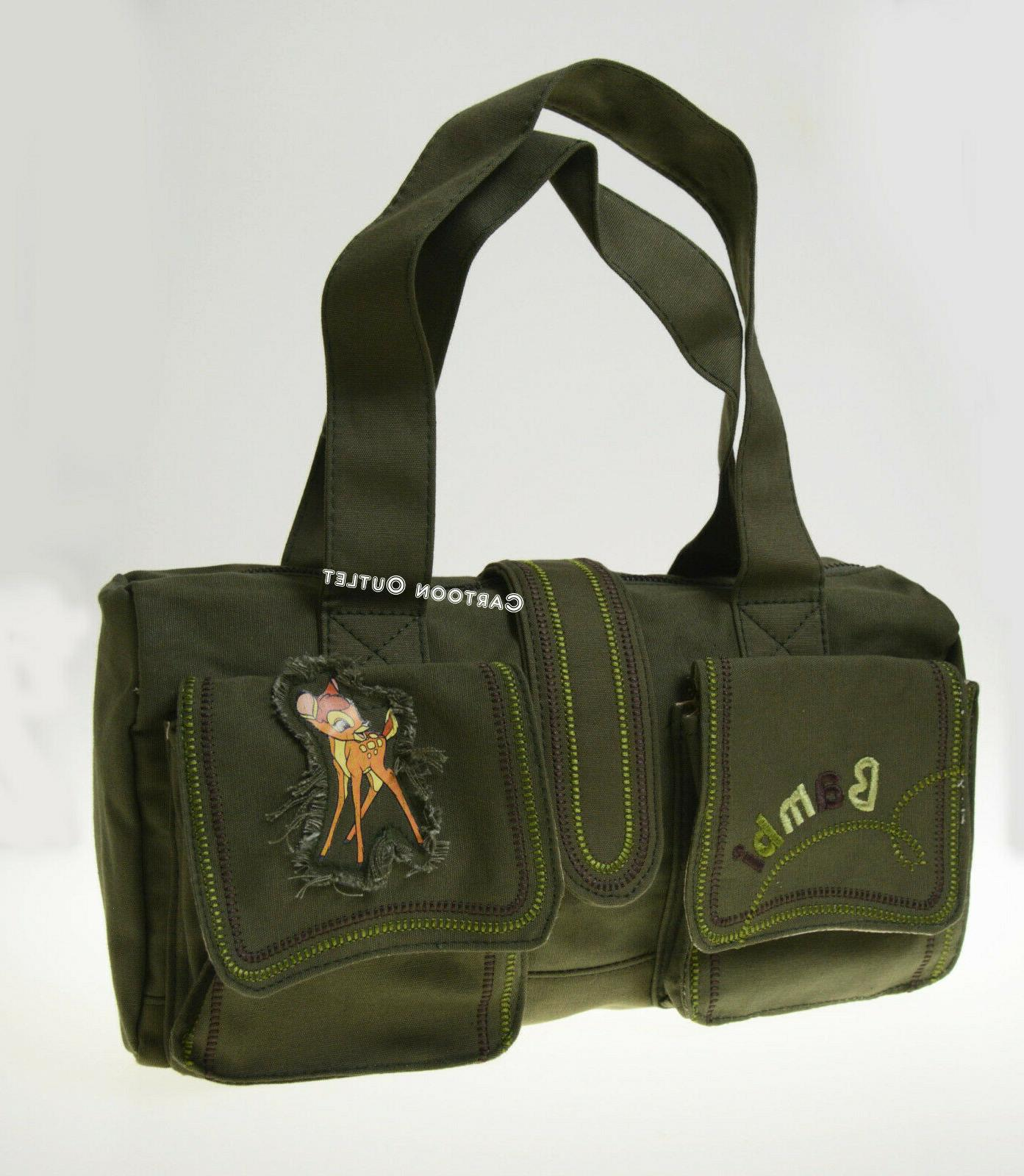 DISNEY PURSE HANDBAG CANVAS GREEN BIRTHDAY GIFT NWT WOMAN Bag