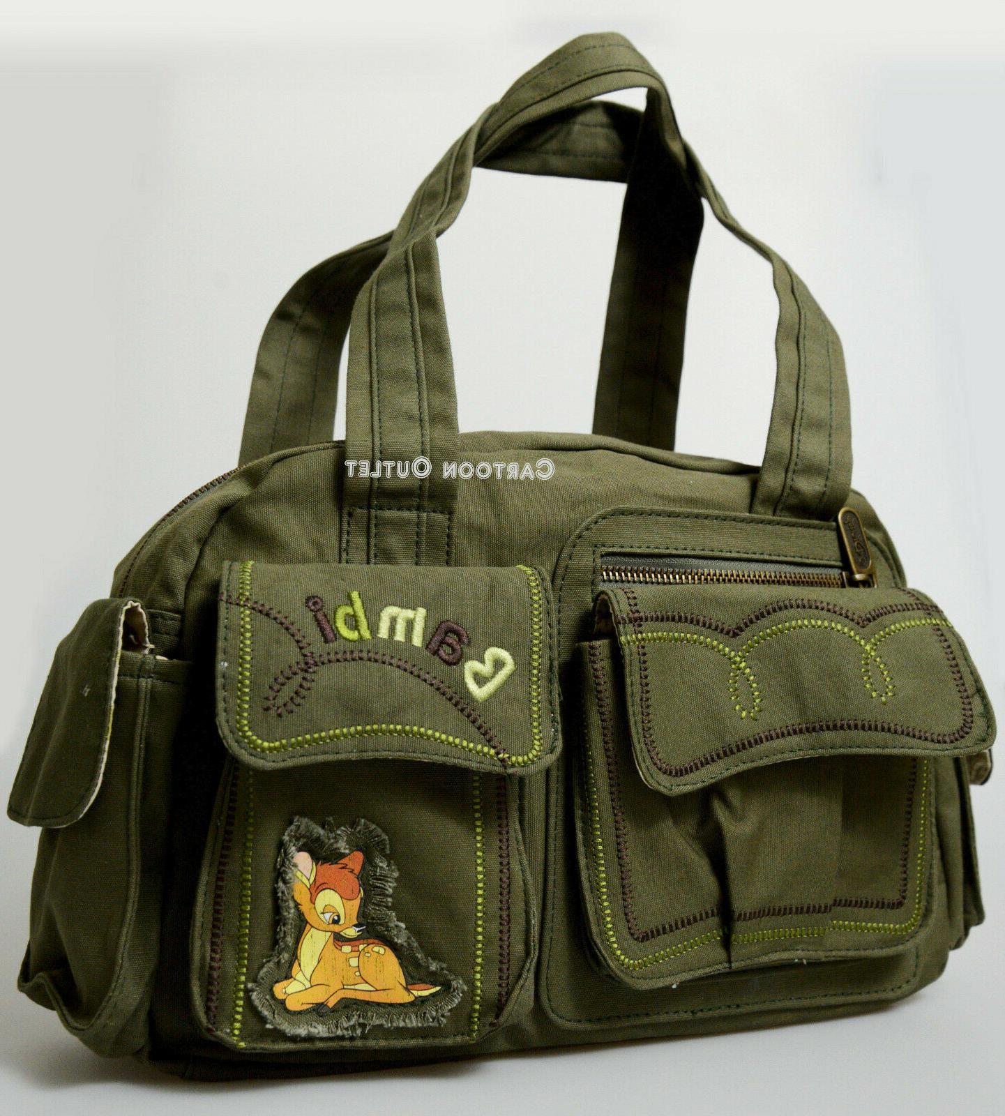 bambi purse handbag canvas green birthday gift