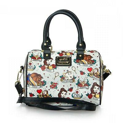 beauty and the beast tattoo print purse