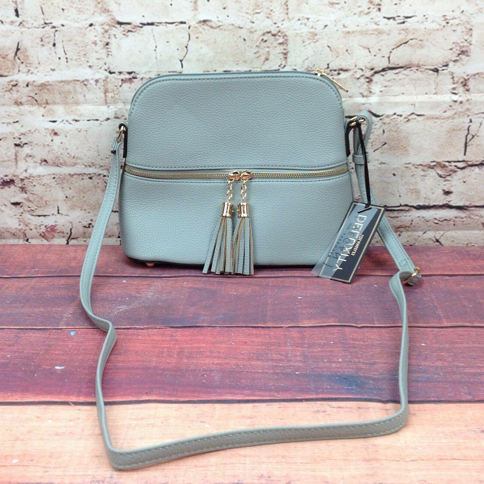 Deluxity Purse Gray Zipper Pocket Bag Gray