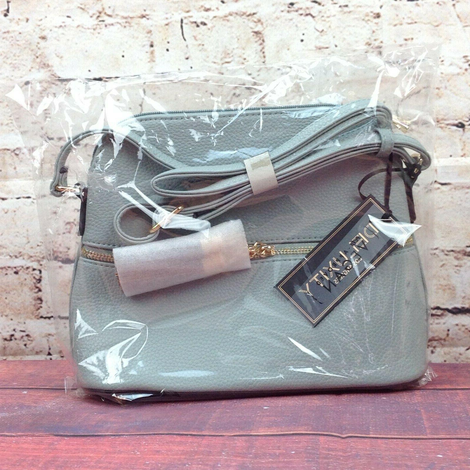 Deluxity Bella Purse Crossbody Zipper Pocket Bag