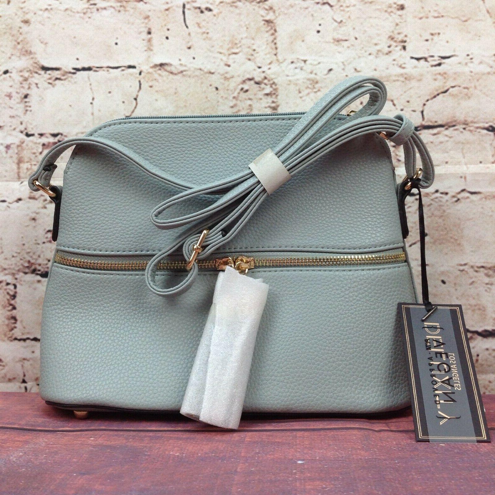 Deluxity Bella Tassel Purse Gray Zipper Pocket Bag Gray