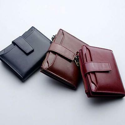 Bifold Zipper Pocket Wallet Gift Women Card ID Window