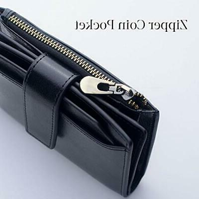 Bifold Zipper Gift Card Case With ID