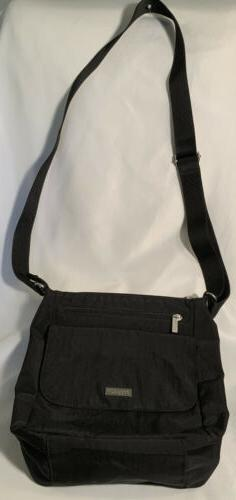 Baggallini Black Nylon Pocket Town Crossbody Lightweight Bag
