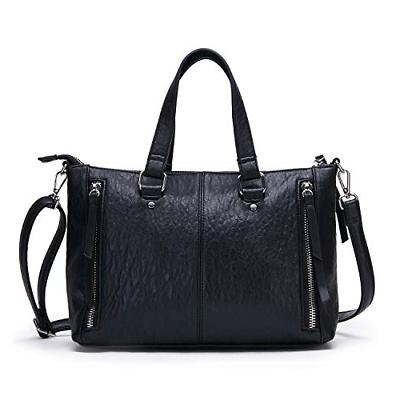 AFKOMST Black Purses and Handbags for Women Top Handle Tote
