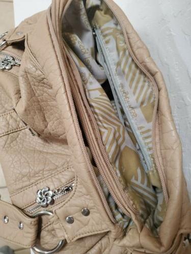 Angel Shoulder Bag Purse Tan