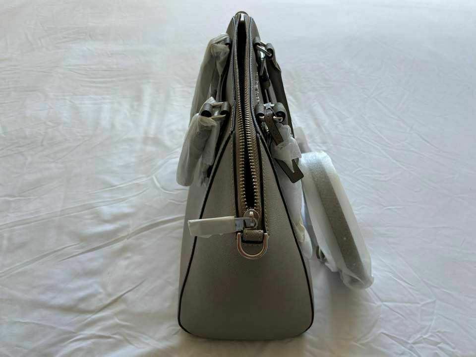 Michael Kors Ciara Large Saffiano Leather Pearl