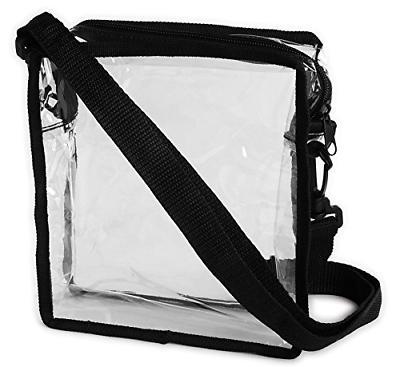 clear cross body messenger shoulder bag stadium