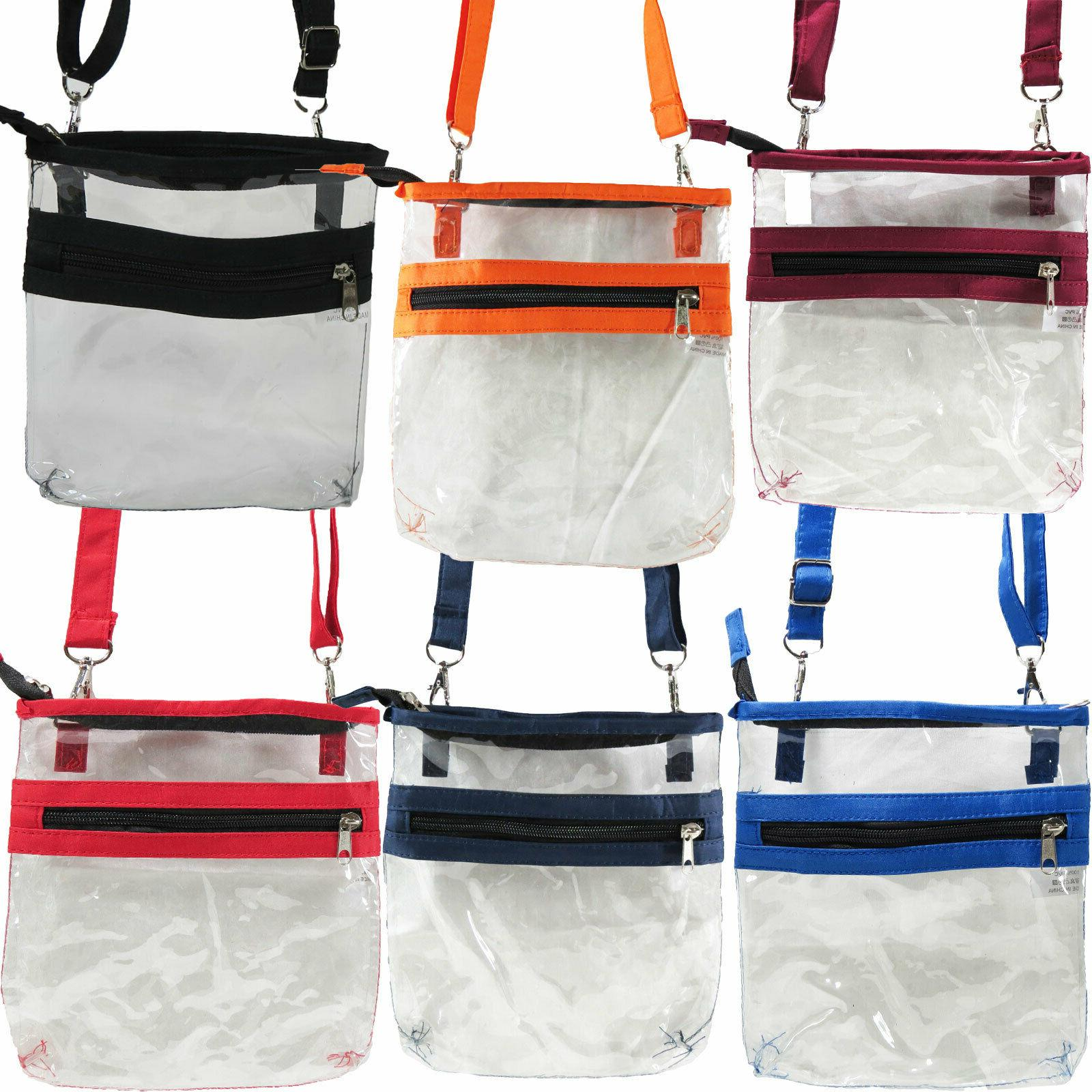 2 Clear Crossbody Shoulder Bag NFL Transparent
