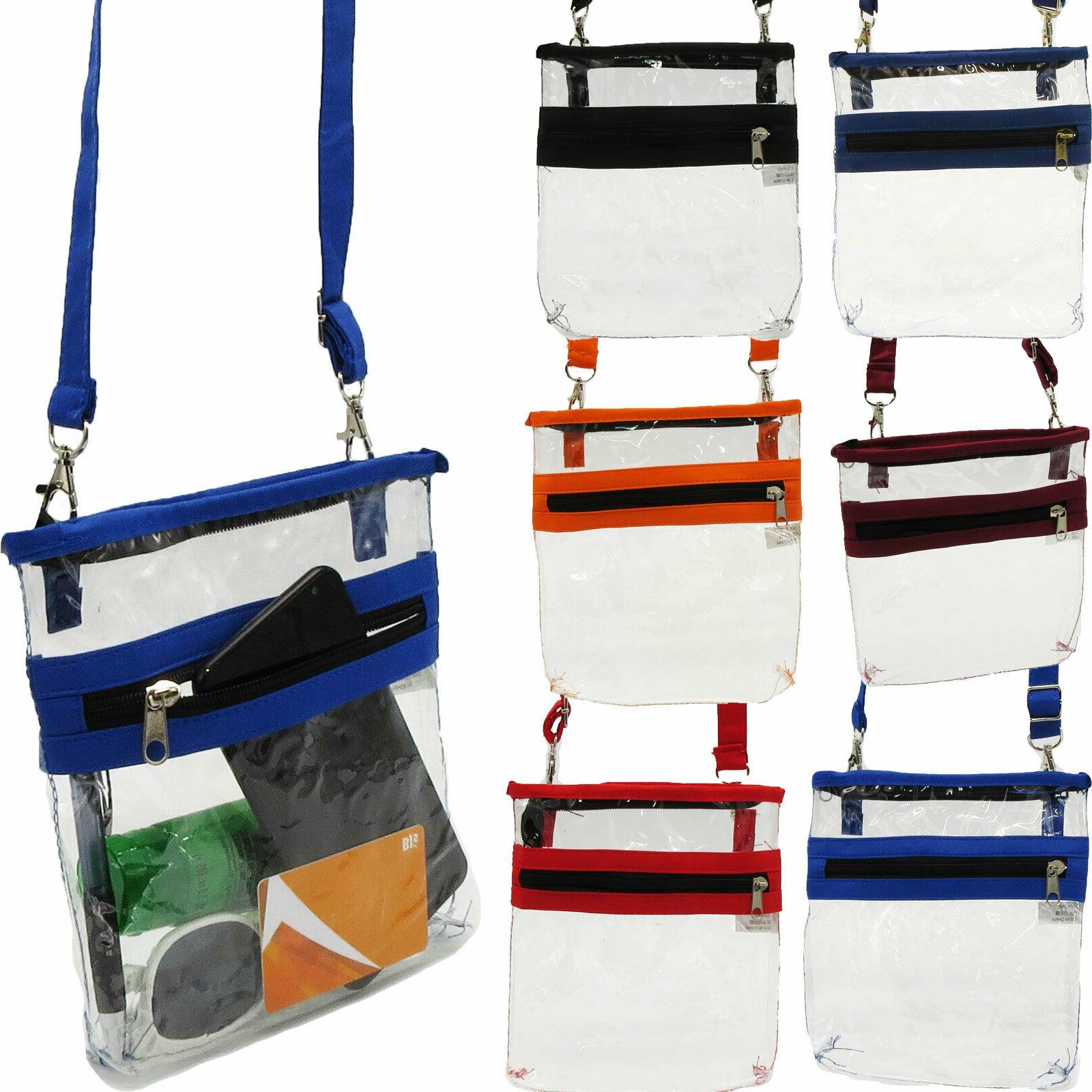 clear crossbody shoulder bag game stadium handbag