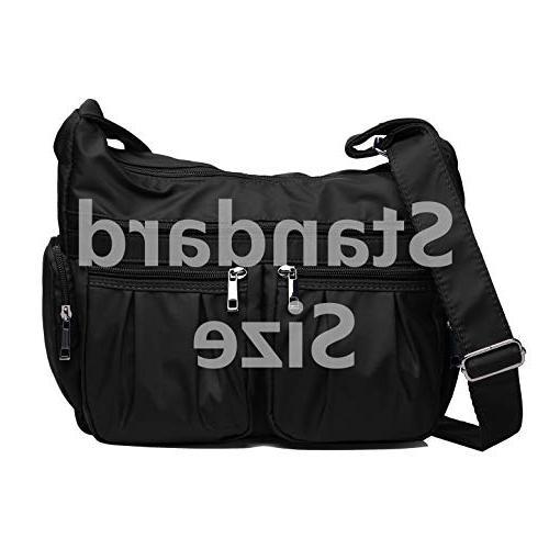 Crossbody Multi Pocket Shoulder Bag Waterproof Nylon Travel and