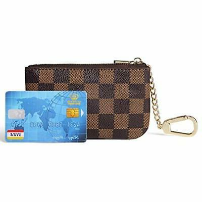 Daisy Pouches Rose Luxury Checkered Chain PU