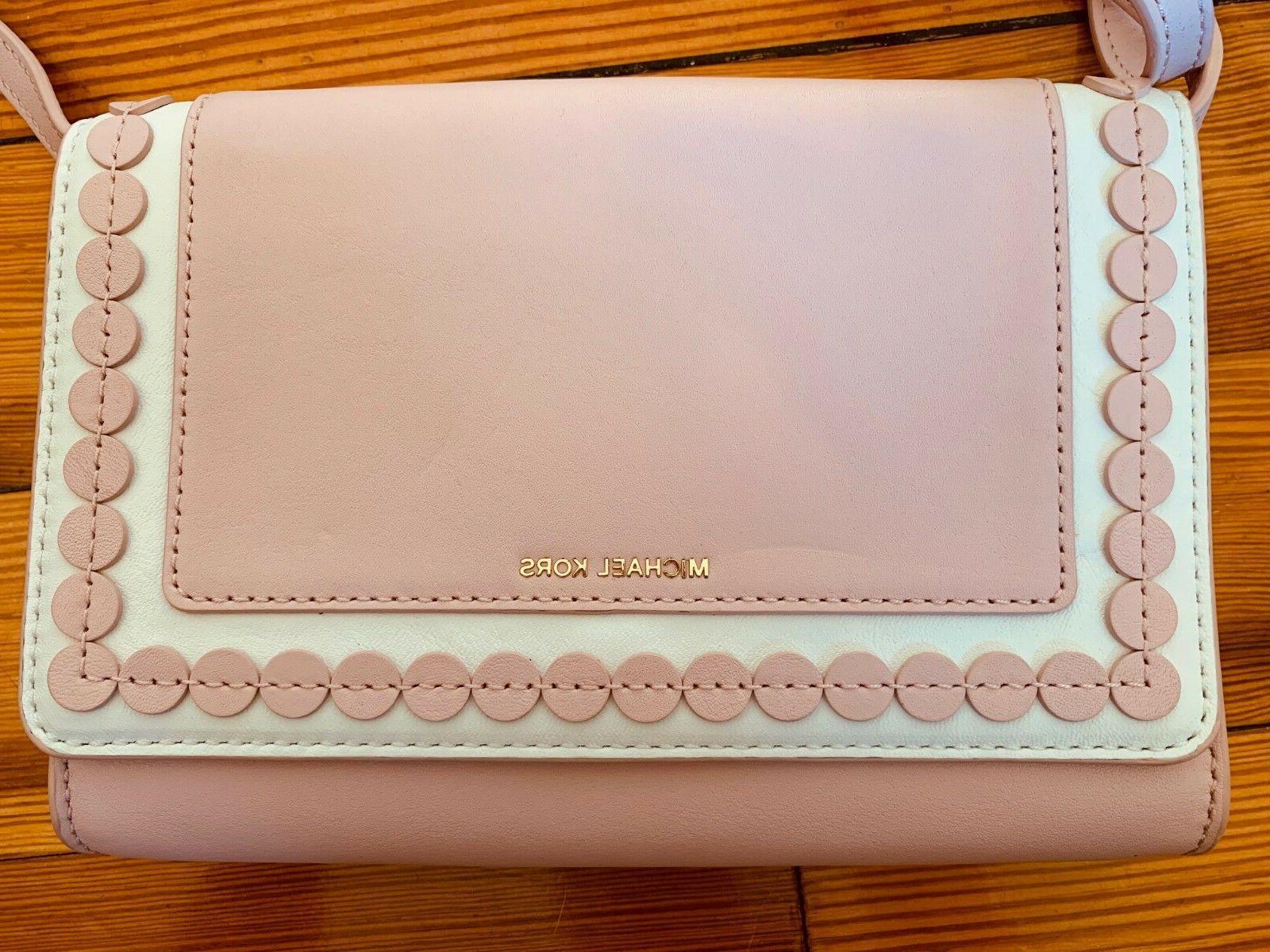 Designer Michael pink white crossbody purse small