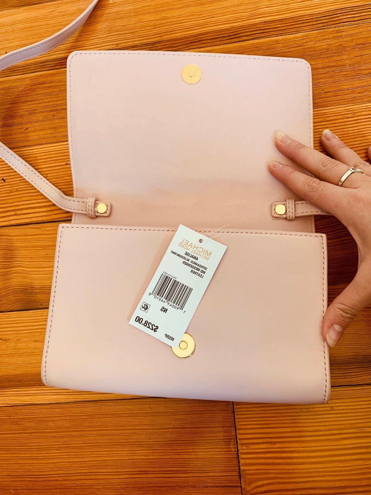 Designer Michael Kors Analise pink and crossbody purse