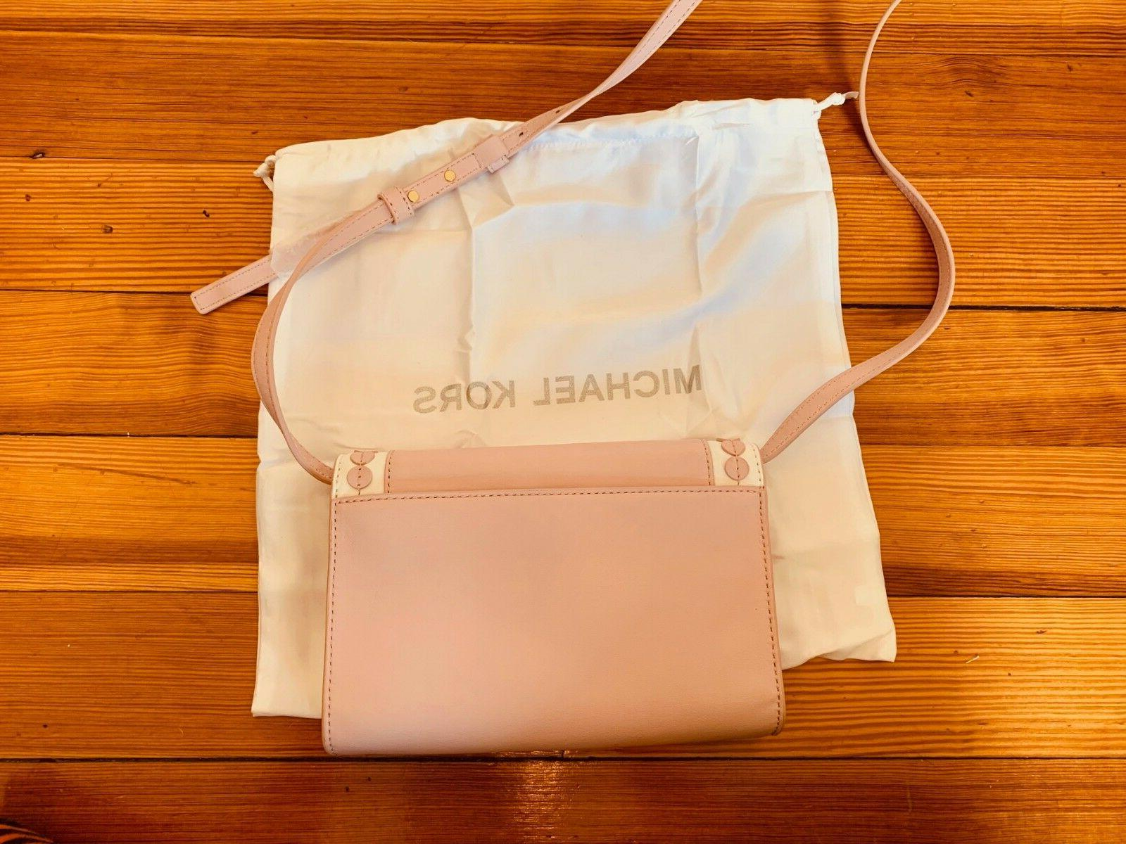 pink white crossbody small