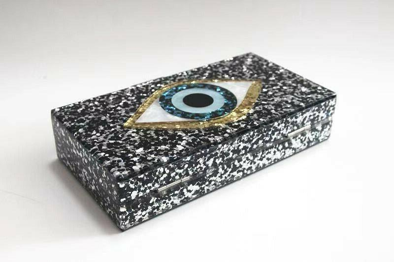 Devil Women Evening Bags Acrylic Box Clutch