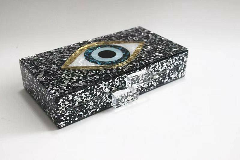 Devil Eyes Evening Bags Box Clutch Handbags Purses