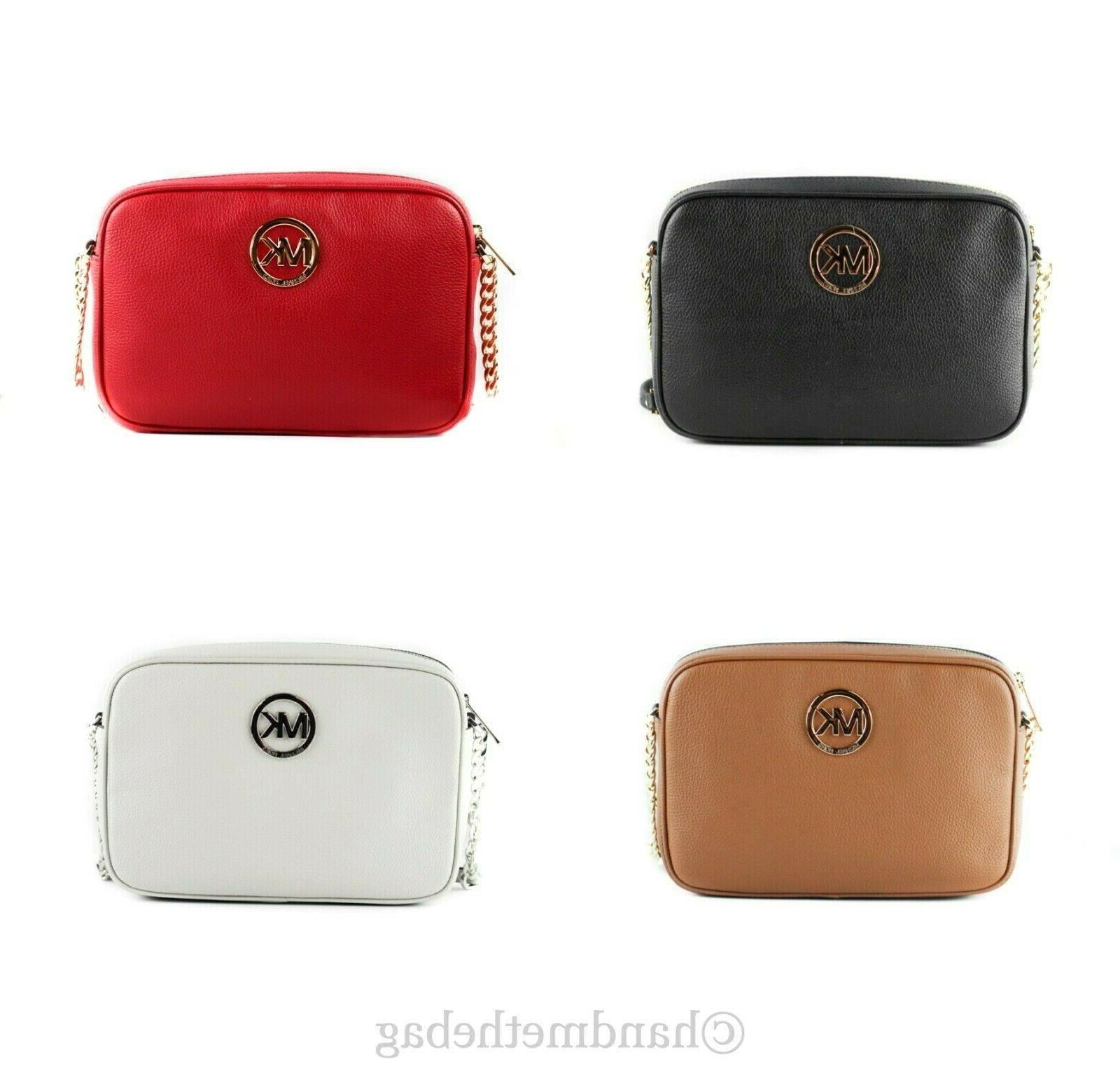 fulton leather large east west crossbody handbag