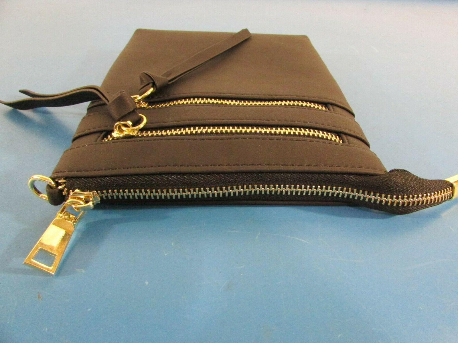 Bveyzi Black Multi Zipper Crossbody