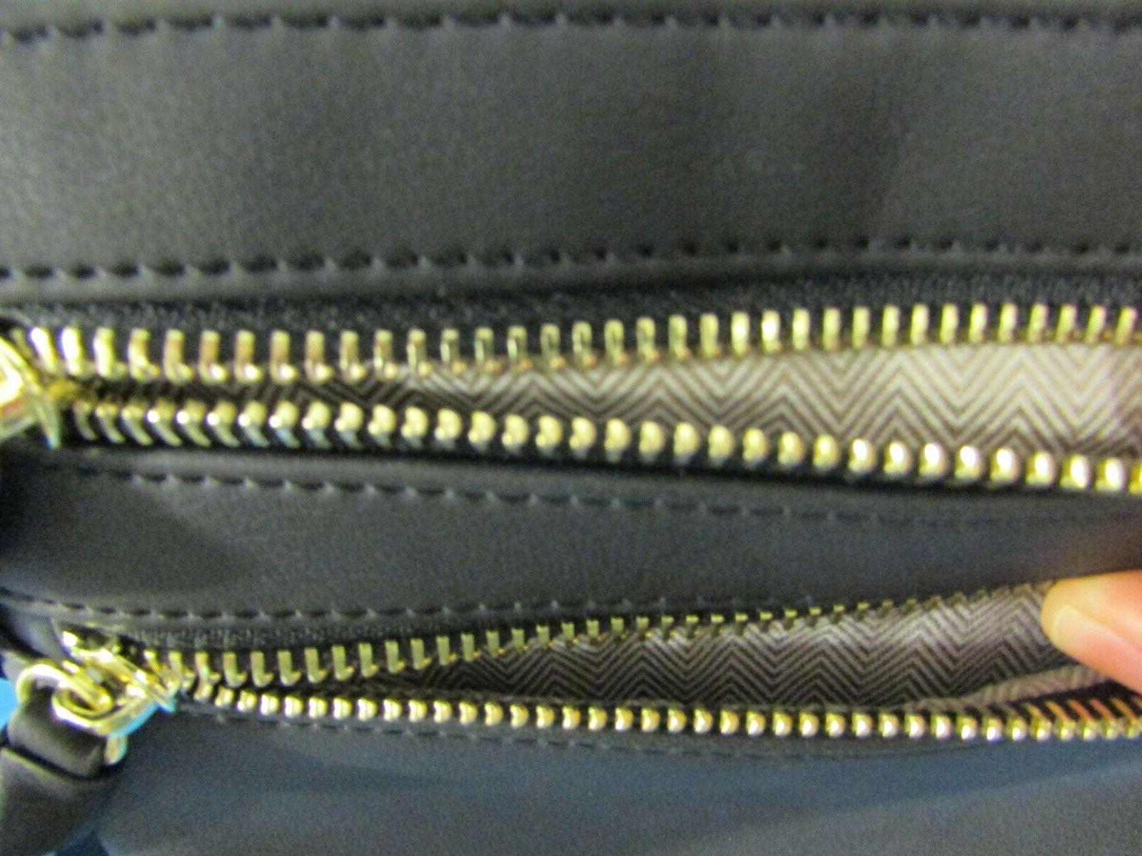 Bveyzi Black Multi Zipper Pocket Crossbody