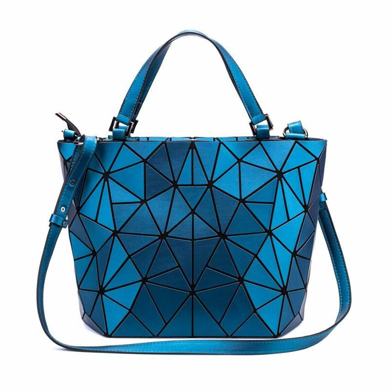 geometric luminous purses and handbags holographic purse