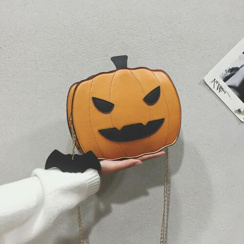Girl Pumpkin Demon Messenger Casual Purse