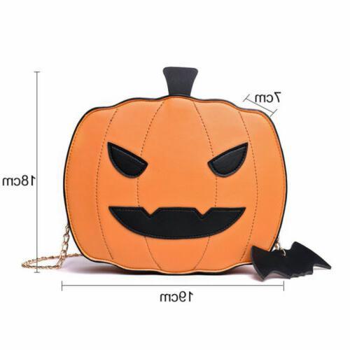 Girl Halloween Pumpkin Demon Messenger Shoulder Bag Casual